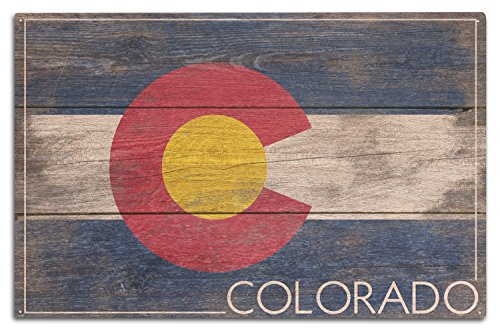 Lantern Press Rustic Colorado State Flag (10x15 Wood Wall Sign, Wall Decor Ready to Hang)