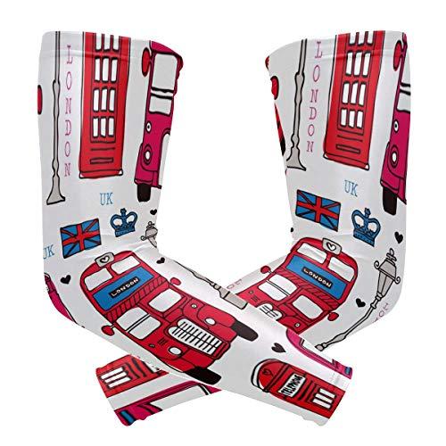 DXG1 London Love UK - Fundas para cabina de telfono (proteccin UV, proteccin solar, 1 par)