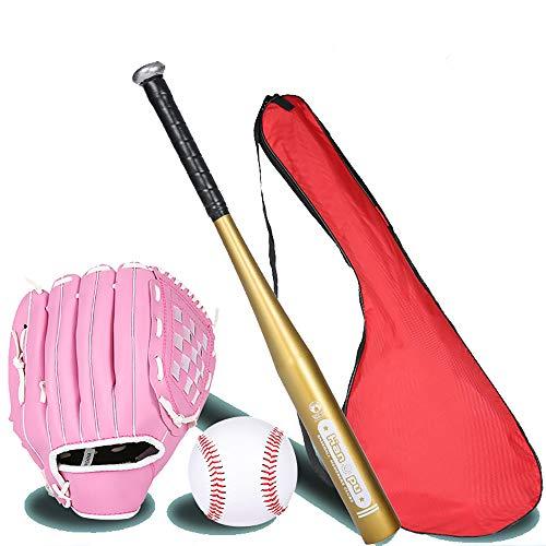 IDE Con Mezclado 25' Conjunto de béisbol Infantil, Conjunto de béisbol, Bate de Madera, Bola y del Guante de béisbol, Mayor de la Liga de béisbol Menor BallLittle Set Kit Multicolor,J