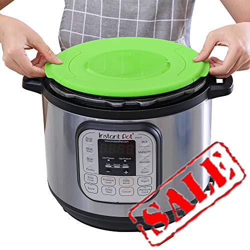 KeepingcooX® Silicone Lid for InstanPot - Silikonhülle für Compatible with Instant Pot, für 6l oder 5l Edelstahl-Innentopf | 6,8 Qt Schnellkochtopf Zubehör für InstaPot, 24,5 cm, Grün