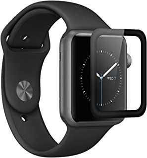 Screen Protector Tempered Glass 3D Full Coverage Glass Curved Edge Surface Scratch Proof HD Ultra Clear Glass for iWatch Apple Watch Series 2