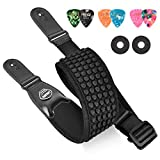 LEKATO Bass Strap for Bass & Electric Guitar with 3.5' Wide 3D Sponge Filling & Neoprene Material Bass Guitar Strap Adjustable Length from 45' to 55' with Pick Holder 2 Safety Strap Locks and 6 Picks