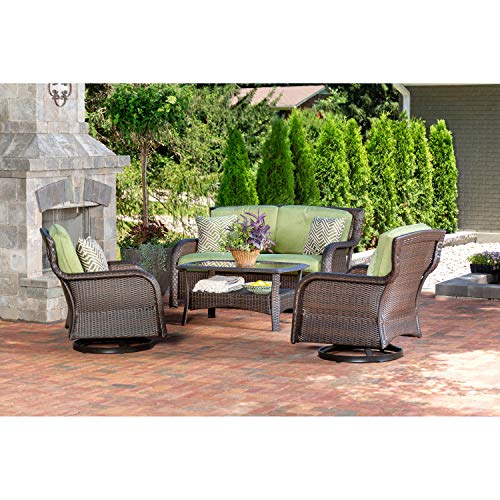 Hanover STRATH4PCSW-LS-GRN Strathmere (4 Piece) Lounge Set, Outdoor Furniture, Cilantro Green