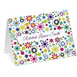 Cheerful Florals Personalized Note Cards with White Envelopes by Colorful Images (Set of 12)