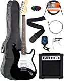 Vault Electric Guitar with Ovangkol Neck Bundle with Gig Bag, 10w Amp, Strap, Tuner, Strings, Instrument Cable, Capo, and Picks - Natural