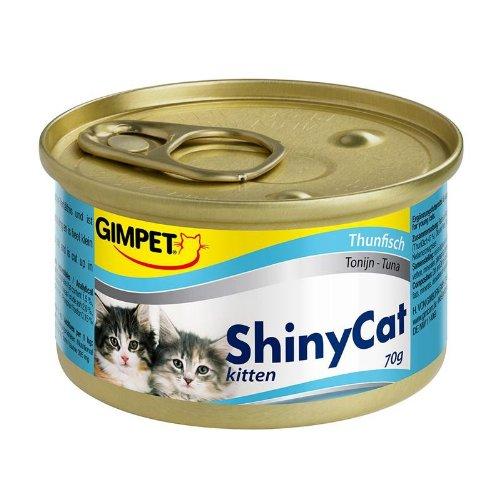 Gimpet ShinyCat Kitten Thunfisch 24x 70g Katzenfutter nass mit Fisch