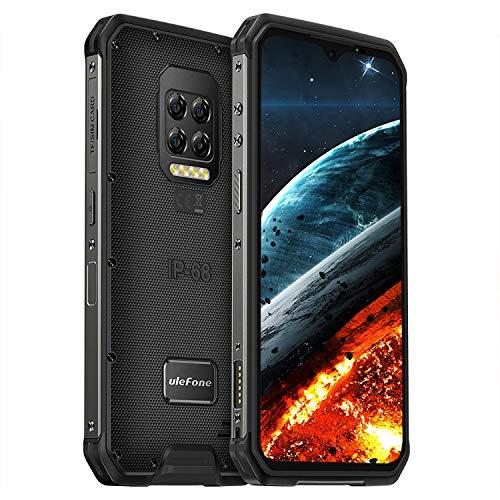 Ulefone Armor 9E Outdoor Smartphone - 6.3 Zoll FHD+ Display 64MP Kamera 128GB ROM+8GB RAM Helio P90 6600mAh Bluetooth 5.0 NFC IP68 Wasserdicht Handy Ohne Vertrag