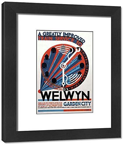 Media Storehouse Framed 10x8 Print of Welwyn Garden City, railway poster, c 1930s (10015601)