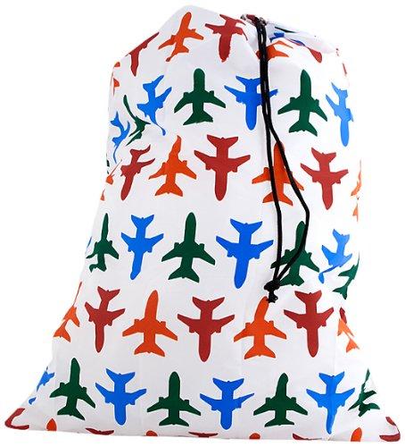 Kikkerland Travel Laundry Bag Plane Set Buste per Biancheria Sporca da Viaggio, Multicolore, 11x10x7 cm