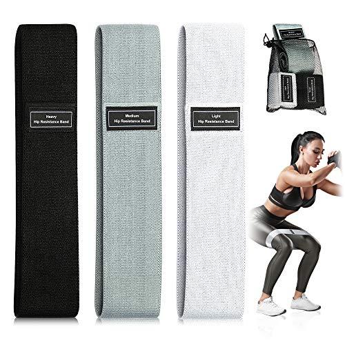 SZILBZ Fitnessbänder,Fitnessband Widerstandsbänder Resistance Hip Band 3 Widerstandsstufen für Hüften,Gesäß und Ganzkörpertraining[3er Set]