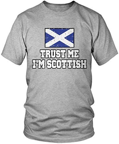 Amdesco Trust Me I'm Scottish, Scotland Pride, Scotland Flag Men's T-Shirt, Athletic Heather Gray 4XL