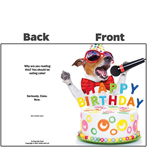 Beacon Streets Singing Dog Happy Birthday Cards, 5 Pack. This Pup Knows How to Get Down & Party! Premium Greeting Card & Envelopes Value Set. Great Funny Gift for Kids, Boys, Girls & Pet Lovers. Photo #5