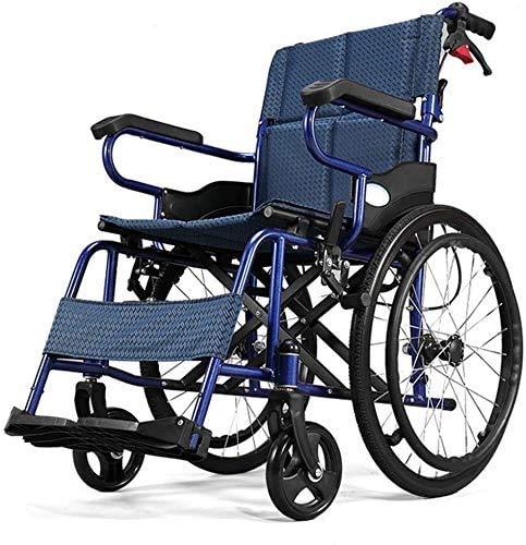 Gxklmg Tragbarer Faltrollstuhl Fahrwagen, Rollstuhls Wagen für Behinderte, Roller- für Behinderte, Rollstuhl für ältere Menschen