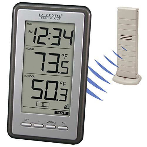 Product Image 3: La Crosse Technology Indoor/Outdoor Temperature WS-9160U-IT Digital Thermometer, Titianium
