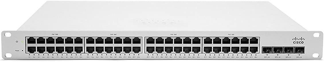 Cisco Meraki MS220-48FP-HW Cloud-Managed L2 48 Port Gigabit 740W PoE Switch