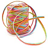 80 M/262 Feet Paper Ribbon,6 Colors Raffia Paper String Packing Twine for Festival Gifts,DIY Decoration and...