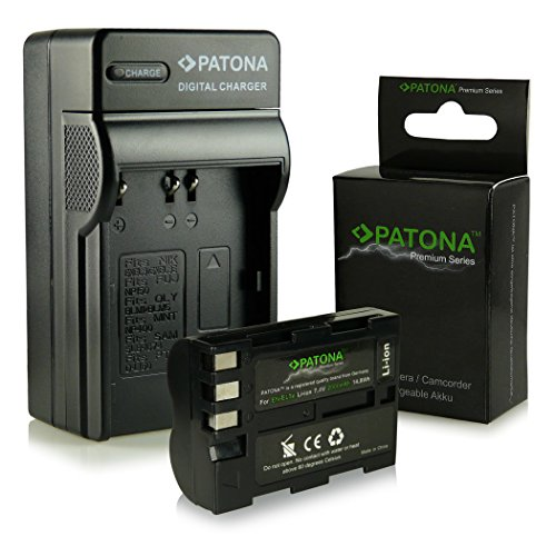 3en1 Cargador + Premium Batería EN-EL3E para Nikon D50 | D70s | D80 | D90 | D200 | D300 | D300S | D700 [ Li-ion; 2000mah; 7.4V ]
