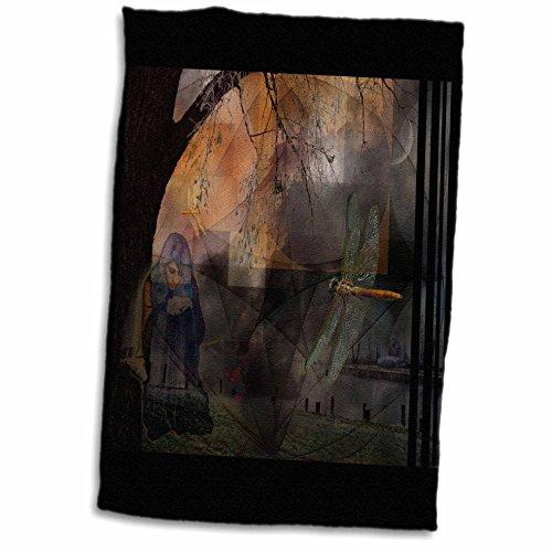 3D Rose Bearers Dreaming Dreamscape Dragonfly Mythology Myth Power Animal Mystic TWL_22330_1 Towel, 15' x 22'