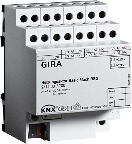 Gira Heizungsaktor 6f Basic 211400 KNX REG Designneutral;Non-Design Bussystem-Heizungsaktor 4010337018414