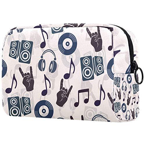 Personalisierbare Make-up-Pinsel-Tasche, tragbare Kulturtasche für Frauen, Handtasche, Kosmetik, Reise-Organizer, Kopfhörer, CDs, Lautsprecher, Notizen