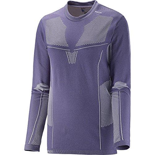 SALOMON Primo Warm Ls CN Tee W - T-Shirt pour Femme, Couleur Gris, Taille XS