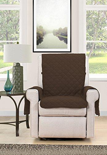 Blissful Living Reversible antideslizante sofá cubierta-perfecto para proteger su muebles de mascotas y niños, correa elástica para ajuste seguro en sofás, sofás, sillas...