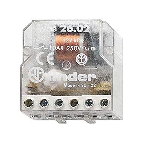 Finder Serie 26,Relais per interruttore bipolare, a 2contatti aperti, 230 V AC