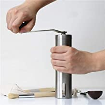 Coffee Grinder Portable Stainless Steel Grinder Household Coffee Machine Manual Pepper Grinder Coffee Mill Domestic Kitchen Grinding Tools Home Kitchen