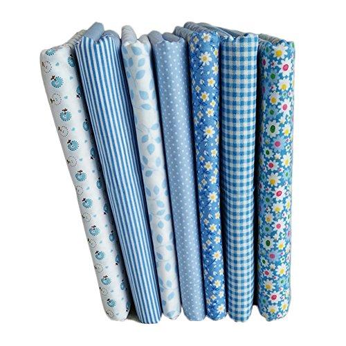 Blue Vessel 7 Stück/Sätze Von Blau 7 Stück Puzzle Gruppe Von 1,6 m Leinwand Gewebe Baumwolle Kleine Florale Hand DIY Baumwolle