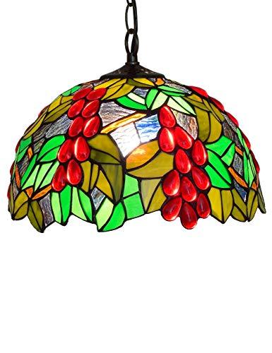 DLewiee Modello a Forma di UVA da frutto con Cristalli Rossi di Grandi lampadari a Luce Rossa per Sala da Pranzo