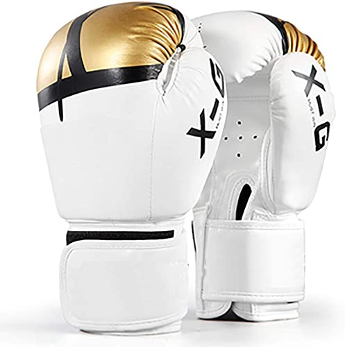 ZZKJNIU Gants De Boxe Adultes - Boxe Sanda Combats Combats éQuipeHommest Professionnel Muay Thai, Ventilation en Cuir De Haute Qualité 10oz