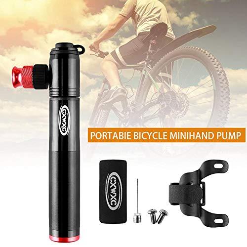 HoneybeeLY Mini Bomba para Bicicleta, Bomba de Aire, 160 PSI, para Bicicleta de Carretera y Bicicleta Cruzada, aleación de Aluminio, Resistencia a la corrosión, Impermeable, fácil de Instalar