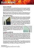Infrarotheizung 450 Watt ESG Spiegel Glaswärmt Spiegelheizung - 4