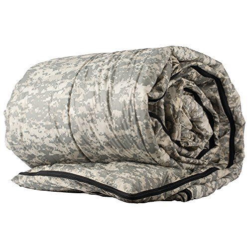 Maxam Queen Size Sleeping Bag with Extra Large Zipper Pull, Includes Matching Draw String Carry Bag, Digital Camo