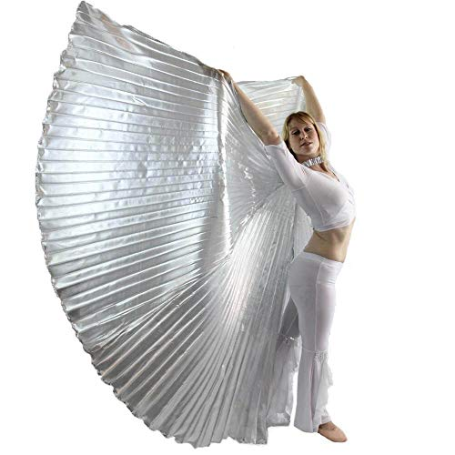 Danzcue 360 Degree Worship Isis Wings, Solid Silver, S-Adult