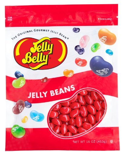 Jelly Belly Very Cherry Jelly Beans - 1 Pound (16 Ounces) Resealable Bag - Genuine, Official, Straight from the Source