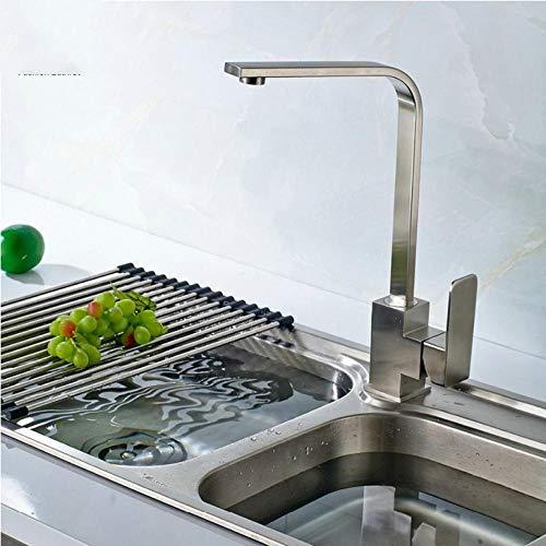 Wasserhahn Küchenarmatur 304 Edelstahl Küchenplatte Drehbare Armatur Küche Kalt Und Warm Deck...