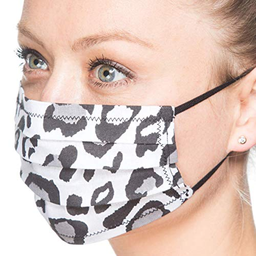 Maske Leo Scheeleopard Animal Print | Mund-Nase-Abdeckung Staubmaske Mundschutz | Handarbeit | atmungsaktiv | Face Cover Mouth and Nose Cover Mask | handmade | breathable