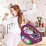 Lexibook RCD109FZ Disney Frozen 2-Bluetooth CD Player für Kinder - Tragbar, Multicolor Lichteffekte, Mikrofon, Aux-In-Buchse, AC oder Batteriebetrieben, Mädchen, Jungen, Violett