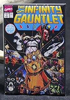 The Infinity Gauntlet #1 Comic Book Cover Refrigerator Magnet. Thanos