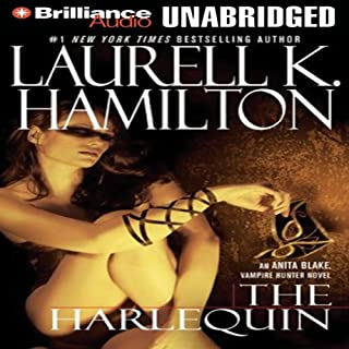 The Harlequin audiobook cover art