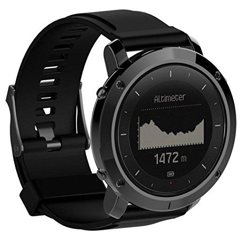 Sport Fashion Weiche Silikon Uhrenarmband ,KIMODO Luxus-Gummi-Uhr-Ersatz-Band-Armband für Suunto Traverse Outdoor-Uhr (schwarz)