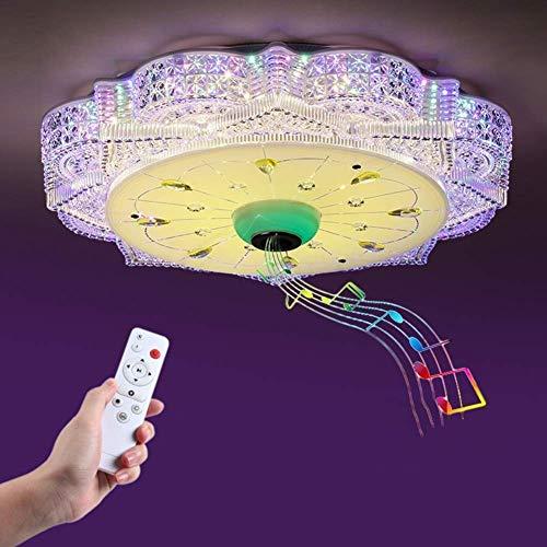 RUIXINBC Bluetooth muziek-diamant-plafondlamp, kleurrijke dimming Smart-Timing plafondlamp met luidsprekers, Smart Color 36W * 2 + 10W Bluetooth kleur licht