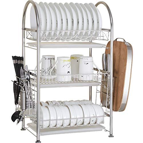 Estante del Horno de microondas de Acero Inoxidable 304 Kitchen Contador de Cocina de 3 Niveles y Estante del gabinete丨Estantes de Almacenamiento de Metal