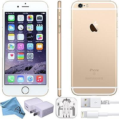 Apple iPhone 6S Factory 4G LTE Unlocked GSM Smartphone (Renewed) (Gold, 128GB)