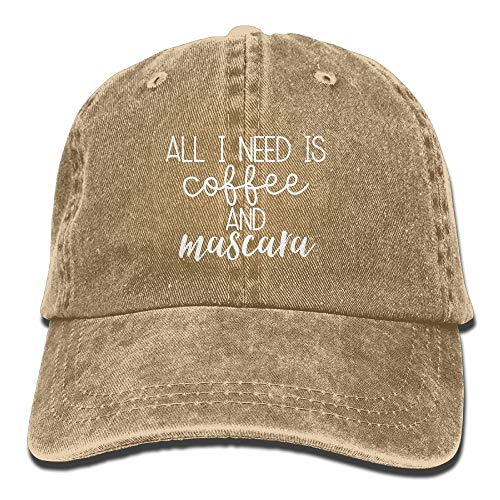 DDHHFJ Need is Coffee and Mascara 1 Classic Baseball Cap Unisex Adult Cowboy Hats