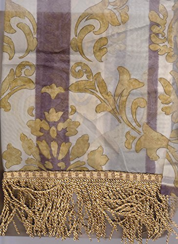 JCPenney Home Collection Darien Imperial Sheer Valance - Gold Silver