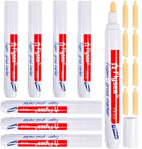 8 PCS juntas azulejos rotulador reparador laca,Adecuado para juntas de baldosas,pattex antimoho Más hermosa,blanco