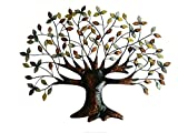 Tree of Life Wall Art Decoration - 30.5 Inch W x 24 Inch H - Made of Iron