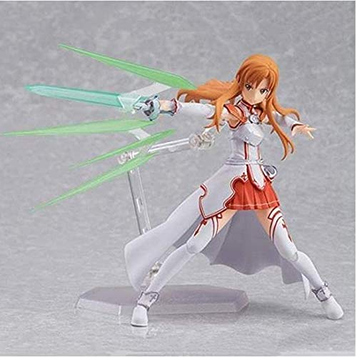 Xfwj Sword Art Online/Sao Action Figure Yuuki Asuna Anime lang haar Pretty Girl Knappe Knight Suit Movable Type Uitgerust Hand Carry Bagage Model Boxed
